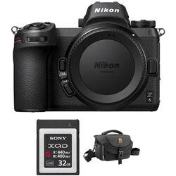 Nikon Z 6 Mirrorless Digital Camera with FTZ Mount Adapter and Bag Kit