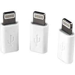 VisionTek Micro-USB to Lightning Adapter (White, 3-Pack)