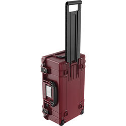 Pelican 1535TRVL Wheeled Carry-On Air Case with Lid Organizer and Packing Cubes (Oxblood)