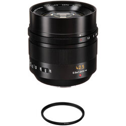 Panasonic Leica DG Nocticron 42.5mm f/1.2 ASPH. POWER O.I.S. Lens with UV Filter Kit