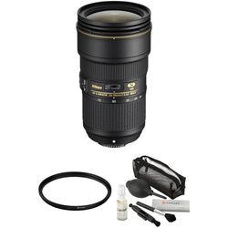 Nikon AF-S NIKKOR 24-70mm f/2.8E ED VR Lens with UV Filter and Lens Care Kit