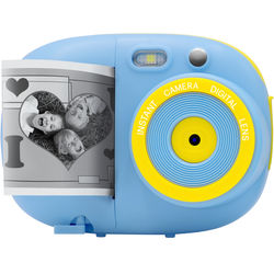 Sunny & Fun Sunny & Fun Kids Instant Camera with 2 Rolls of Paper, 3 Coloring Pens & B&W Thermal Printing (Blue)