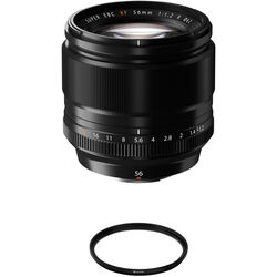 FUJIFILM XF 56mm f/1.2 R Lens with UV Filter Kit
