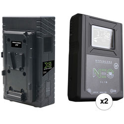 Core SWX Two Hypercore NEO Slim 98Wh Li-Ion Battery Kit with 2-Bay Charger (V-Mount)