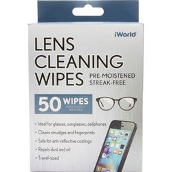 iWorld Lens Cleaning Wipes (50-Pack)