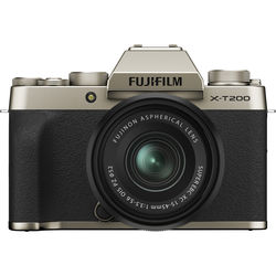 FUJIFILM X-T200 Mirrorless Digital Camera with 15-45mm Lens (Champagne Gold)