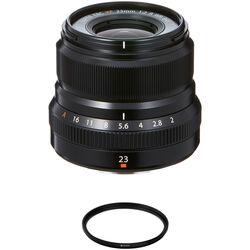 FUJIFILM XF 23mm f/2 R WR Lens with UV Filter Kit (Black)