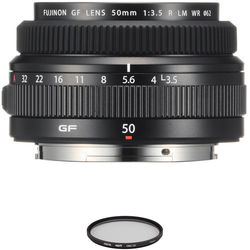 FUJIFILM GF 50mm f/3.5 R LM WR Lens with UV Filter Kit