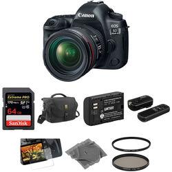 Canon EOS 5D Mark IV DSLR Camera with 24-70mm f/4L Lens Basic Kit