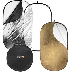 "Impact 5-in-1 Collapsible Oval Reflector with Solid Gold (42x72"")"