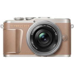Olympus PEN E-PL10 Mirrorless Digital Camera with 14-42mm Lens (Brown)