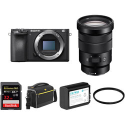Sony Alpha a6500 Mirrorless Digital Camera with 18-105mm Lens and Accessory Kit