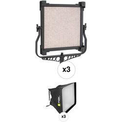 Genaray SpectroLED 1200B1 Bi-Color LED 3-Light Kit