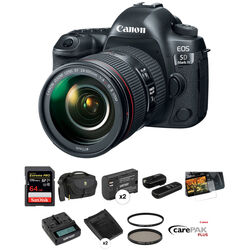 Canon EOS 5D Mark IV DSLR Camera with 24-105mm f/4L II Lens Deluxe Kit