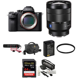 Sony Alpha a7S II Mirrorless Digital Camera with 24-70mm f/4 Lens, Mic, and Accessories Kit