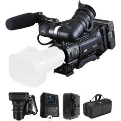 JVC GY-HM850CHU Camera Kit with 20x Fujinon Lens, Battery, Charger & Carry Bag