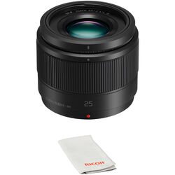 Panasonic Lumix G 25mm f/1.7 ASPH. Lens with UV Filter Kit