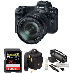 Canon EOS R Mirrorless Digital Camera with 24-105mm Lens and Accessories Kit