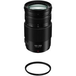 Panasonic Lumix G Vario 100-300mm f/4-5.6 II POWER O.I.S. Lens with Lens Care Kit