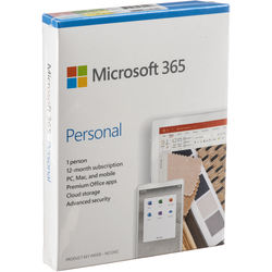 Microsoft 365 Personal (1 PC or Mac License / 12-Month Subscription / Product Key Code)