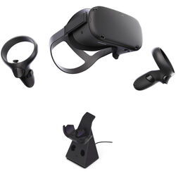 Oculus Quest All-in-One VR Gaming System with Charging Dock Kit (128GB)