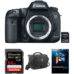 Canon EOS 7D Mark II DSLR Camera Body with W-E1 Wi-Fi Adapter and Accessory Kit