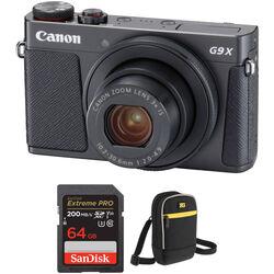 Canon PowerShot G9 X Mark II Digital Camera with Accessory Kit (Black)