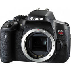 Canon EOS Rebel T6i 24MP HD Digital SLR Camera Body with 16x Optical Zoom - Black