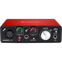 Focusrite Scarlett Solo (2nd Gen) 2 Input/ 2 Output USB 2.0 Audio Interface