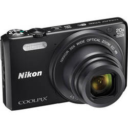 Nikon Coolpix S7000 16MP 1080p WiFi Digital Camera with 20x Optical Zoom - Factory Refurbished + Free Nikon Leather Camera Case + PC Corel PaintShop Pro X8