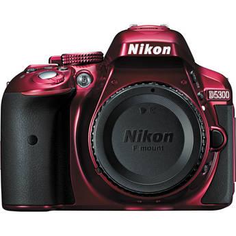 Nikon D5300 DSLR Camera (Body Only, Red)