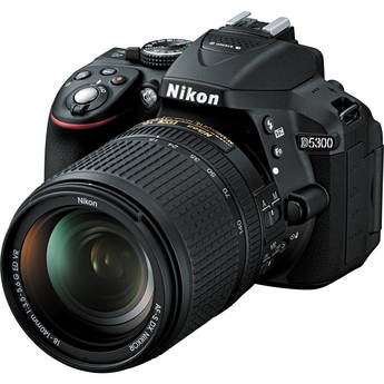 Nikon D5300 DSLR Camera with 18-140mm Lens (Black)