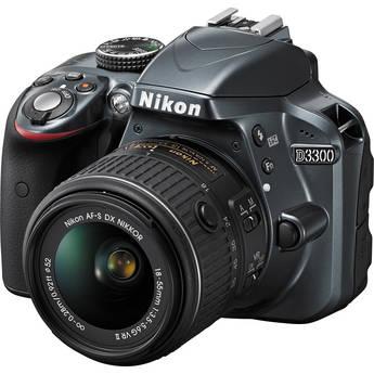 Nikon D3300 DSLR Camera with 18-55mm Lens (Grey)