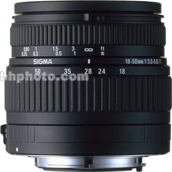 Sigma Zoom Super Wide Angle 18-50mm f/3.5-5.6 DC J-Autofocus Lens for Pentax Digital AF