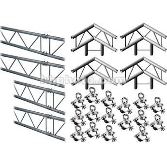 Milos M222 Duo QuickTruss Hanging Kit - includes: 4 Truss Sections, 2-Way 90 Degree Corners, Clamps with Lifting Eyes - 7.5 x 10.8'