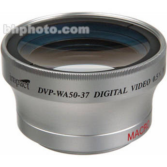 Impact DVP-WA50-37 37mm 0.5x Wide Angle Converter Lens with Macro Capabilities