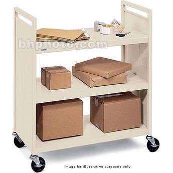 """Bretford 3-Shelf Booktruck with 5"""" Casters (Putty Beige)"""