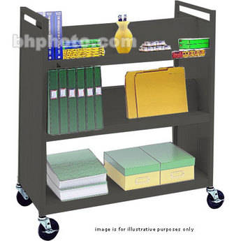 """Bretford VF336-AN5 Book and Utility Truck with Four Slanted Shelves, One Flat Shelf and 5"""" Casters"""