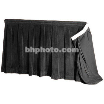 "The Screen Works 48"" Skirt for E-Z Fold 10x17' Truss Projection Screen - Black"