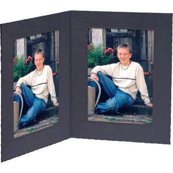 """Collector's Gallery Double View Portrait Folder - Contemporary Style  without Foil Border , Model PF5402-57 - for 5 x 7"""" Prints (Portrait Format) - 25 Folders"""