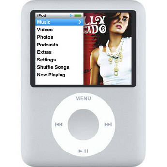 Apple iPod Nano 3rd Generation 4GB Silver A1236 Music Player Used