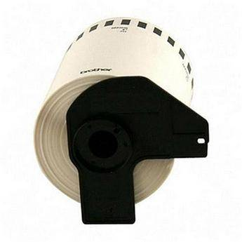"""Brother DK2243 4"""" x 100' Black/White Continuous Length Film Tape"""
