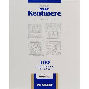 Kentmere VC Select RC 5x7 12.7x17.8 25 Sheets Lustre Darkroom Paper
