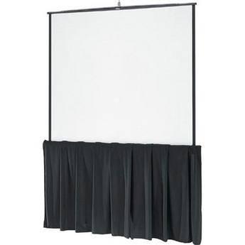 """Da-Lite 99216 Black Tripod Skirt (60"""")"""
