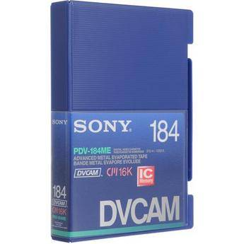 Sony PDV-184ME 184 Minute DVCAM Videocassette with Memory Chip