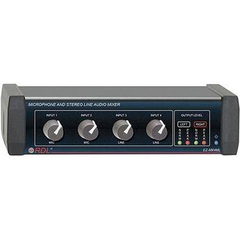 RDL EZ-MX4ML - Microphone and Stereo Line Audio Mixer