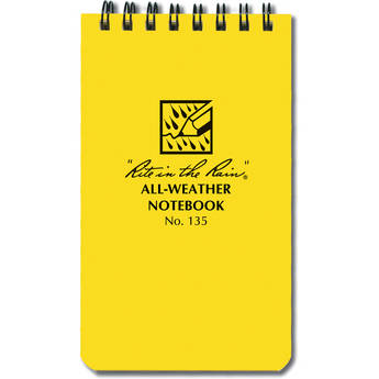 """Rite in The Rain All-Weather Top-Spiral Pocket Notebook (3 x 5"""", Yellow)"""