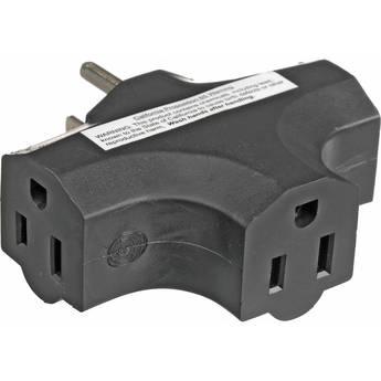 E-String Tri Tap NEMA 5-15 Adapter (Black)