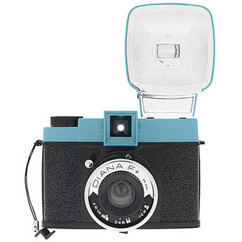 Lomography Diana F+ Film Camera and Flash (Teal/Black)