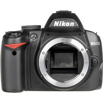 Nikon D3000 DSLR Camera (Body Only, Refurbished by Nikon USA)